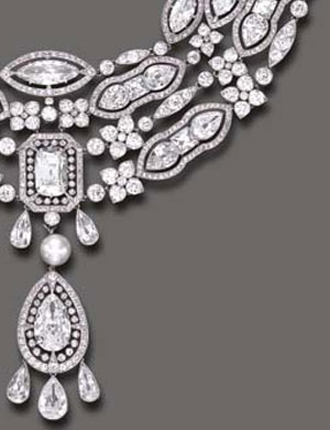 6221556ee MAGNIFICENT BELLE EPOQUE DIAMOND AND PEARL PENDANT NECKLACE, BY CARTIER of  DORIS DUKE COLLECTION