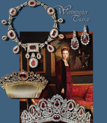 Die Bagration Parure | The amazing Bagration Parure Duchess of Westminster | Royal Jewel History    Bagration Spinell Diamant Parure Hochzeitsgeschenk an die damals zukünftige Herzogin von Westminster