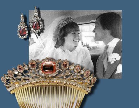 Bagration Parure - the comp Nobel Jewels Jewelry History - Grosvenor-Westminster-marriage-wedding-gift Conjunto Westmister Bagration de espinelas naturales rosadas