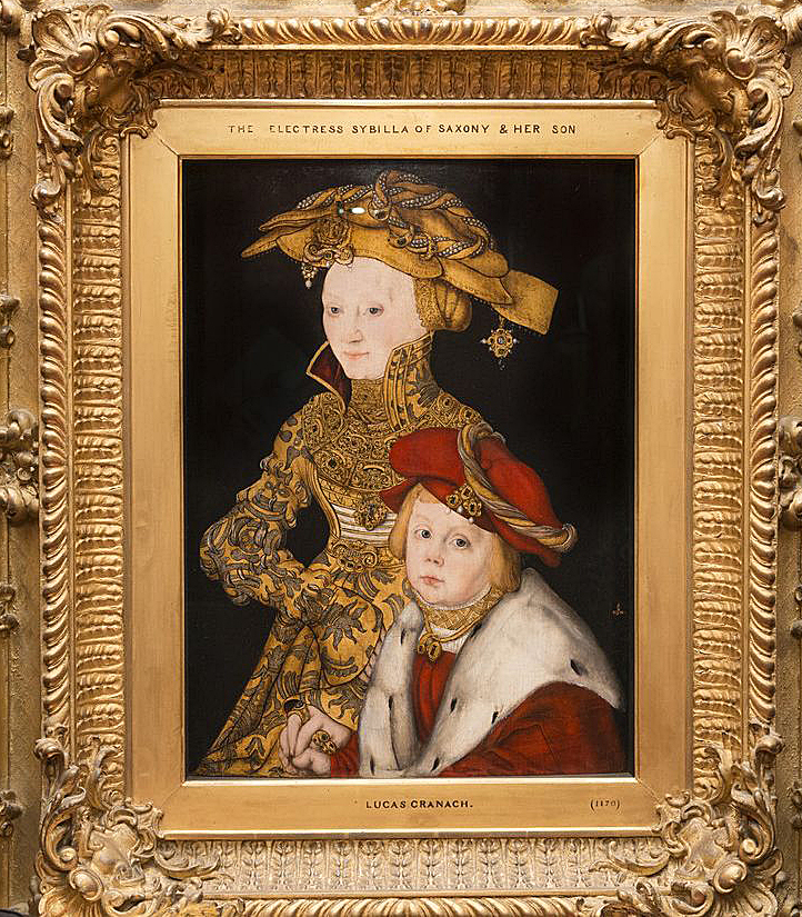 Portrait of a Lady and her Son Cranach Cranach Saxony Electress and Son