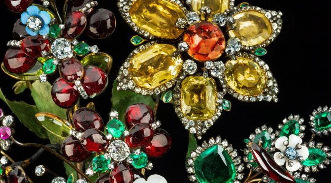 Imperial Jewels of the Romanovs|Empress Elizabeth Petrovna Jewelry Flower Bouquet of Diamonds and Gems