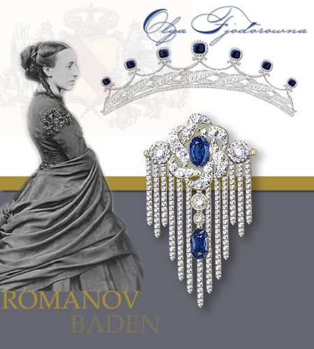 Jewels and Diamonds of the Grand Duchess Olga Feodorovna Jewellery of Grand Duchess Olga Feodorovna the Sapphire Parure Princess Cecilia of Baden