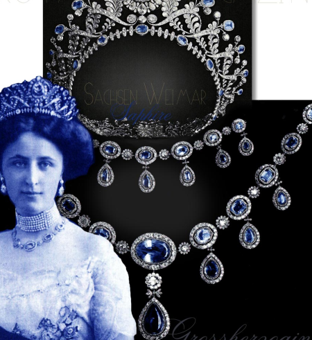 Maria Pavlovna RomanowaGrand Duchess of Saxe-Weimar Imperial Royal Diamond and Sapphire Tiara | Saxe-Weimar