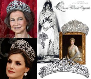 Fleur de Lys Diamond Tiara Ansoren | Queen Ena of Spain Victoria Eugenie of Battenberg