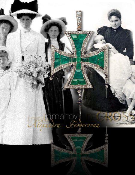 Tsars Treasure | Emerald & Diamond Cross Empress Alexandra Feodorovna| Jewels From The Shaft