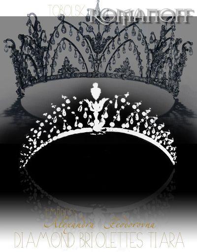 Diamond Briolette Tiara | Tobolsk Jewels | Empress Alexandra Fyodorovna Romanov