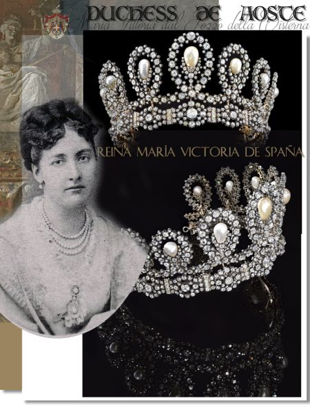 Diamond Pearl Tiara Duchess d'Aosta Maria Vittoria dal Pozza della Cisterna|Savoy Royal Jewels Italy |Royal Marriage Gift