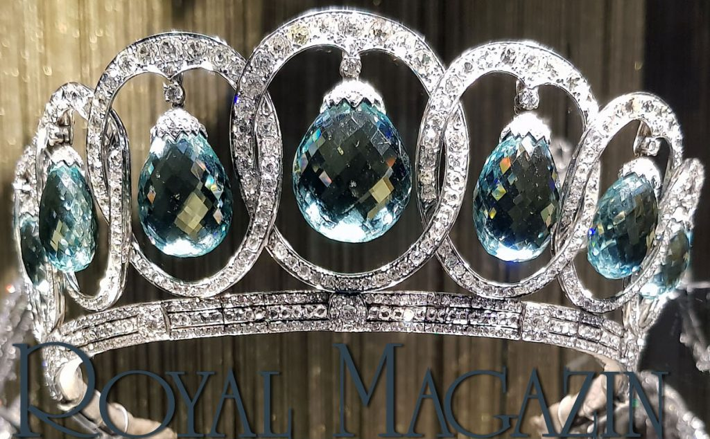Loop Tiara | Diamond Loop Diadem| Circlet Aquamarine Queen Victoria Eugenie of Spain Torlonia