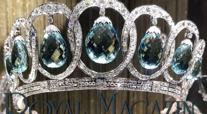 Loop Tiara | Diamond Loop Diadem| Circlet Aquamarine Queen Victoria Eugenie of Spain Torlonia