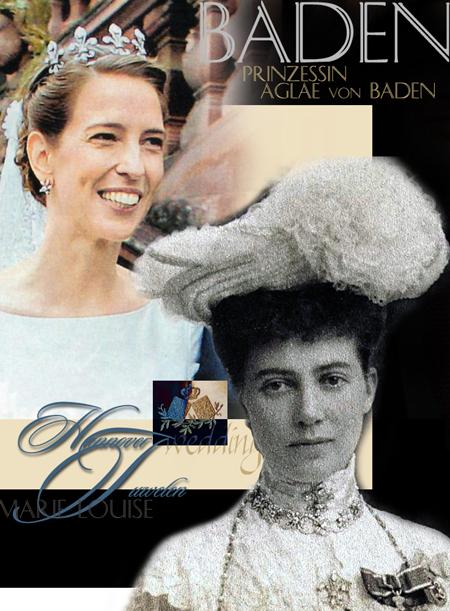Prinzessin Aglaë von Baden | Royale Hochzeit |Diamant Fleur de Lys Braut Diadem