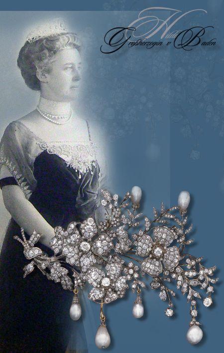 Großherzogin Hilda von Baden Diamant Schmuck| Devante de Corsage, Brosche |Diamant Stomacher  Grand Duchess of Bade preussen prussia diamond wedding