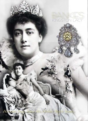 Henrietta Jenny Fraser |Mrs Walter Ralph Bankes after her marriage, with her palmetten ornament tiara, spray brooch, pearl necklaces and the large Benkes stomacher brooch.