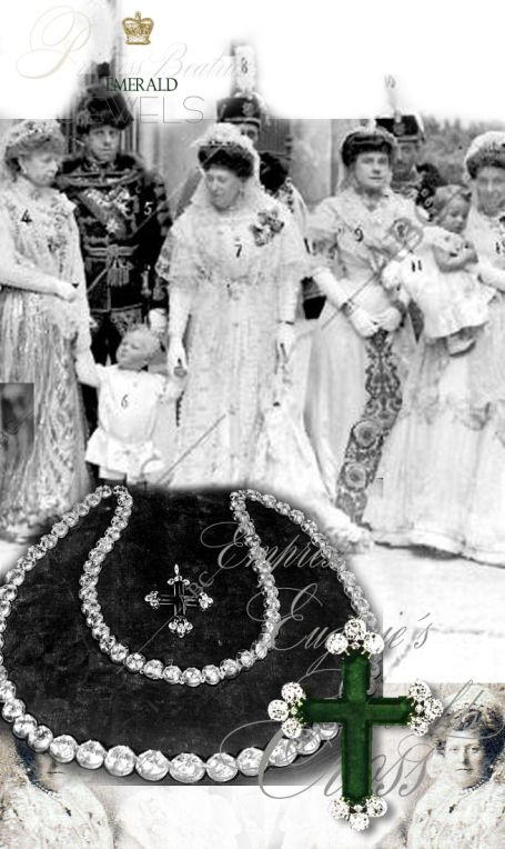Andean Cross Emerald History | Christening of Infanta Beatrice of Spain Emerald Cross - Imperial Emerald cross of the Andean | Princess Beatrice of the UK Royal Presents| Princess Henry of Battenberg