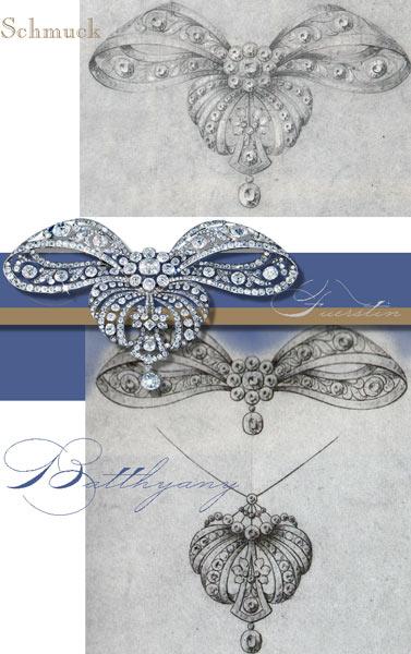Fürstin Batthyany Köchert Stomacher Diamanten Brosche Schleife Devante de Corsage | Österreich Ungarn Hochadel