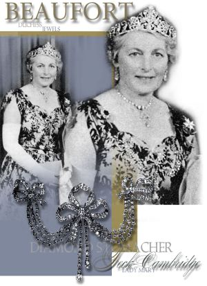 Royal Jewels | Ribbon Devante de Corsage | Bow Stomacher | Duchess of Beaufort Lady Mary Cambridge