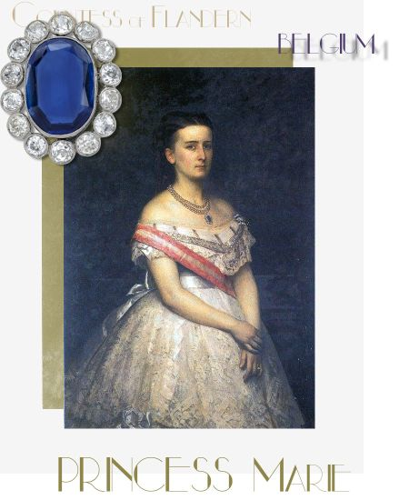 Sapphire Pendant, Bracelets and Brooches |Royal Presents to Princess Marie of Hohenzollern| Countess of Flanders |Reine de Belgique Queen Belgium History