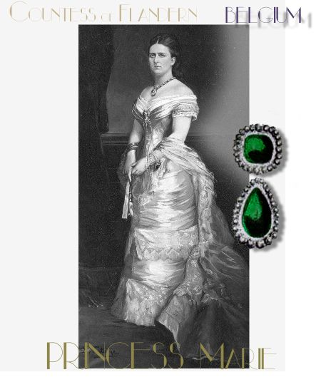 Emeraudes 140ct Emerald Brooch | Princess Marie of Hohenzollern| Countess of Flanders |Reine de Belgique| Queen of Belgium Royal Jewels
