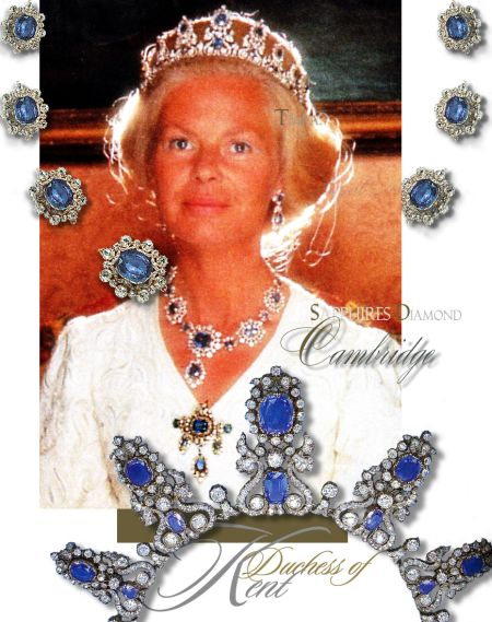 Historic Cambridge Sapphire Parure| Katherine Duchess of Kent