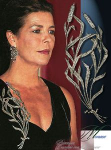 Princess Caroline of Hannover | Monaco| Reed Stomacher Brooch Chaumet