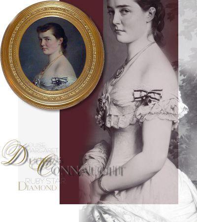 Imperial Royal Jewelry | Duchess of Connaught Rubin Diamant Stern | Romanov Preussen |Königlicher Schmuck von Luise Margarete Prinzessin von Preussen, Herzogin von Connaught
