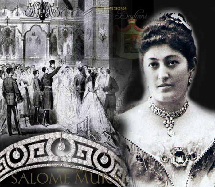 Prince Murat Napoleon and PrincessSalome Dadiani of Mingrelia Wedding | Imperial Greek KeyTiara