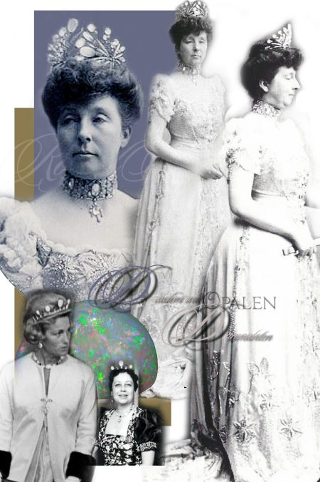 Opal and Diamond Tiara Princess Marie of Orleans|Opal Parure Duchess of Chartres|Royal Jewels Denmark