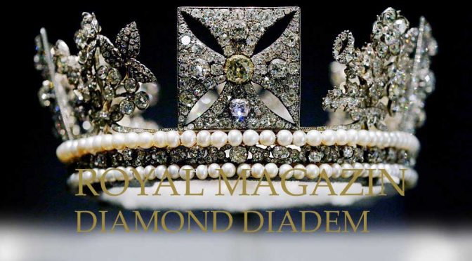 Georg IV Diamond Diadem King of the united Kingdom The Diamond Diadem, designed for George IV's coronation by the jewellers Rundell Bridge & Rundell, is set with 1,333 diamonds, including a four-carat pale yellow brilliant.