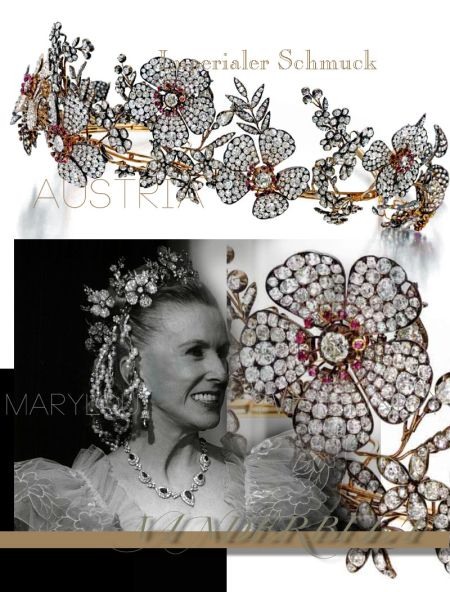 Wild Roses Diamond Tiara Diadem| Marylou Whitney Vanderbilt, imperial Rose wreath and leaves in diamond Tiara