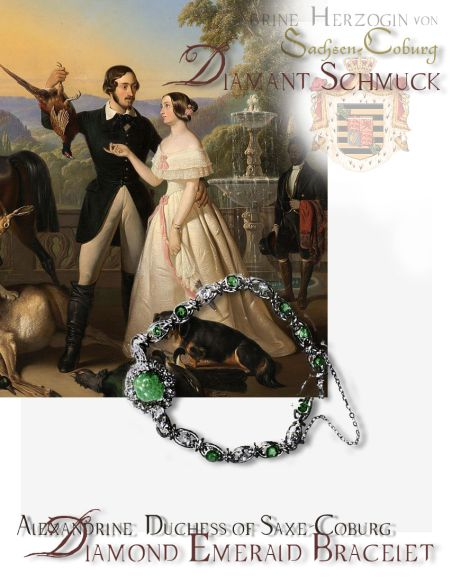 Duchess of Saxe-Coburg & Gotha | historic Royal Emerald Jewelry Alexandrine Duchess of Saxe-Coburg and Gotha Wedding Gift Royal Marriage Presents