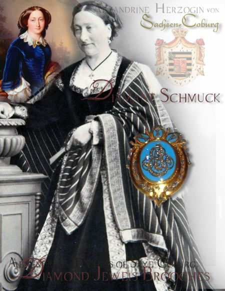 Alexandrine Duchess of Saxe-Coburg-Gotha|Royal Silver Wedding Gift| Gold Diamond Brooch from Queen Victoria|Royal Jewelry History
