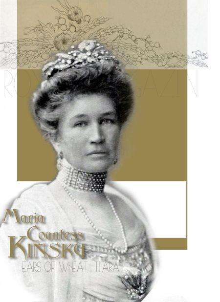 Gräfin Marie Kinsky| Countess Kinsky - Dubsky |Ears of Wheat Tiara with Cloves, Corn and Berries in Diamond |Köchert |Imperial Austria Royal Jewel History