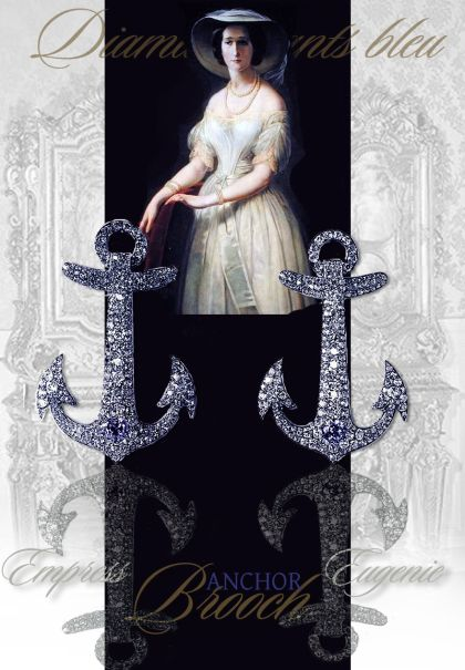Anchor Brooches from Empress Eugenie - later owned by the Duchess of Newcastle
