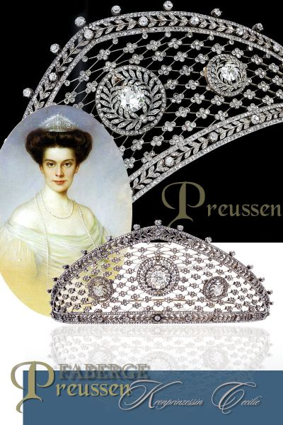 Faberge Tiara Wedding gift from Anastasia Michaelovna to her daughter Crown Princess Cecilie of Prussia