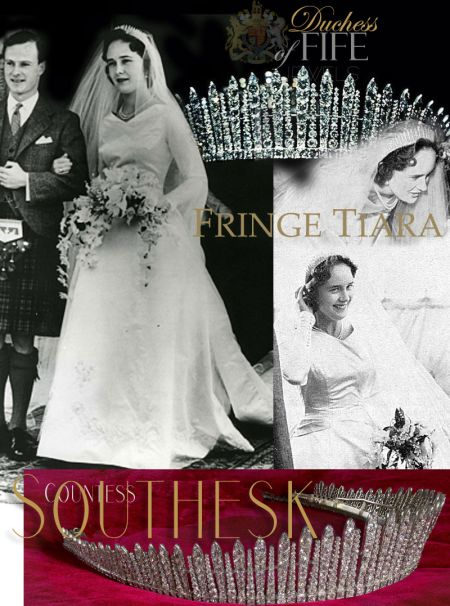 Countess Caroline Southesk Wedding Jewels |Duchess of Fife Princess Royal Louise | Fife Fringe Tiara| Diamond Kokoshnik Diadem