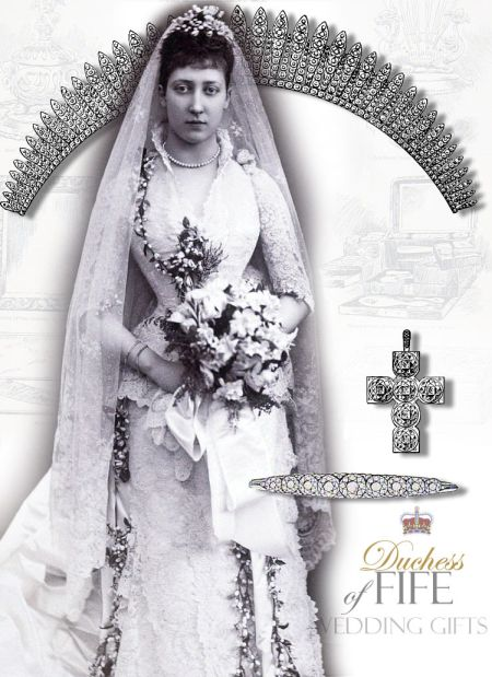The Fife Fringe Tiara of Diamonds | Royal Jewels of the Duchess of Fife | Wedding Gift of Queen Alexandra and King Edward to her daughter Princess Royal Louise
