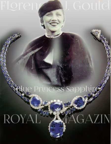 Florence J. Gould Blue Princess Sapphire Necklace and important jewels