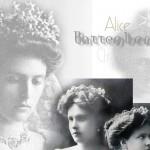 Mountbatten Battenberg Sterne Diadem Prinzessin Alice von Battenberg als Braut mit dem Diadem Ihrer Mutter