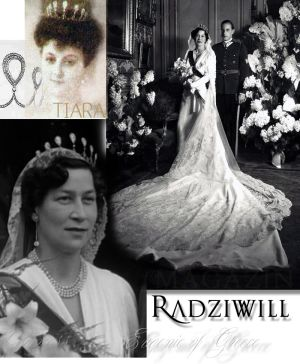 Radziwill Diamant Tiara with 7 pear shaped diamonds wedding gift to Archduchess Renata Princess of Radziwill