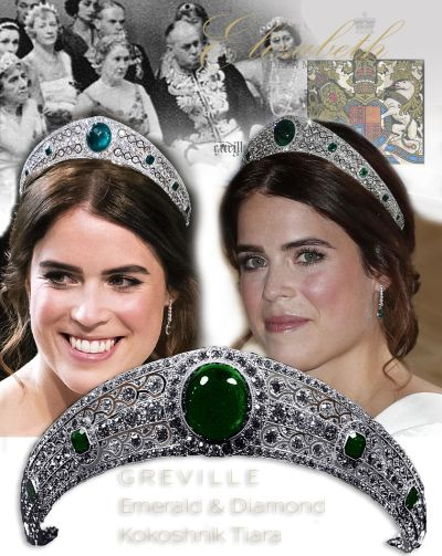 Greville Emerald Tiara Kokoshnik Princess Eugenie Royal Wedding