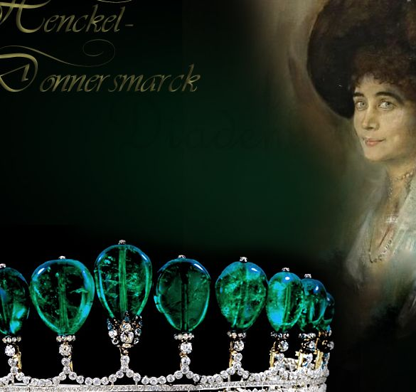 Henckel-Donnersmarck Jewels a European Princely Family | Famous Emeralds | la Paiva Boucheron Tiara Diadem