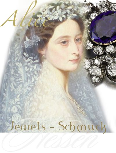 Princess Alice Grand Duchess of Hesse by Rhine | Royal Marriage presents Wedding gifts|England German Royal Jewels