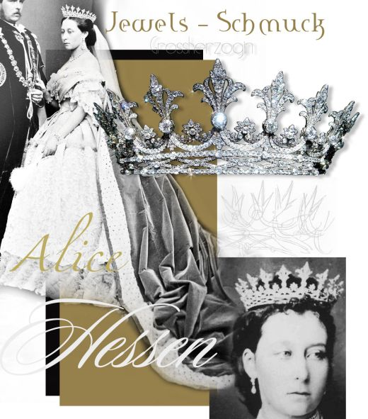 Grand Duchess Alice of Hessen bei Rhein Strawberry Leaf Diamond Tiara History Strawberry Leaf Tiara royaljewels history  Hessische Hausstiftung strawberry leaves strawberry leaf tiaras Grand Ducal diadem Grand Ducal tiara
