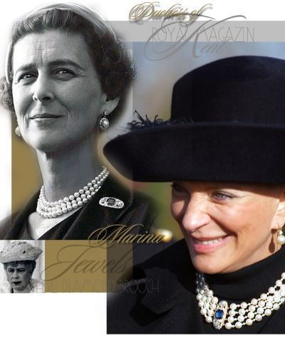 Queen Mary Sapphire Diamond Brooch |Marina Duchess of Kent rectangular sapphire and two diamonds sapphire brooch