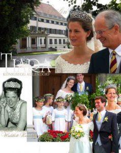 Diamant Diadem mit Girlanden | Hochzeits Tiara Gräfin Koenigsegg-Aulendorf