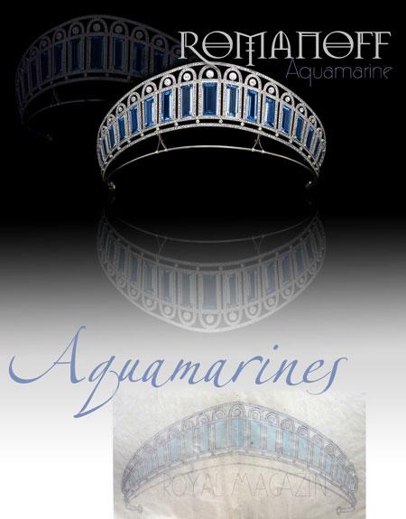 Aquamarine diamond kokoshnik imperial jewel history a Empress Alexandra Feodorovna Romanov