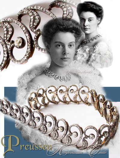 Bolin Diamond Necklace Wedding Present of her grandfather Grand Duke Micheal Nikolaevich  | Crown-Princess Cecilie of Prussia Royal Jewels and Imperial Marrige Gifts