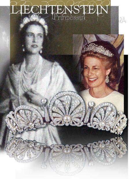 Prinzessin Astrid von und zu Liechtenstein, Hochzeit. Royal Wedding: Princess Astrid has chosen the Kinsky Honeysuckle Tiara, also one of the most important of the Liechtenstein royal family. The piece, made of diamonds set in gold and silver, belonged to Princess Marie of Liechtenstein.