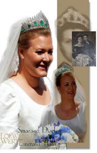 Smaragd Diamant Diadem mit Schleifen, Girlanden und Schlaufen| Prinzen Prinzessin Löwenstein-Wertheim-Freudenberg