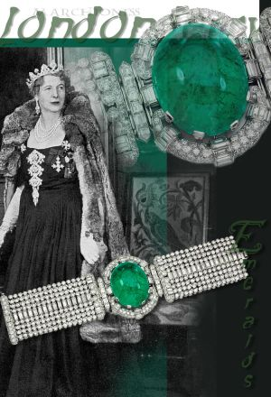 Emerald Diamond Bracelet | Marchioness of Londonderry historic Jewels