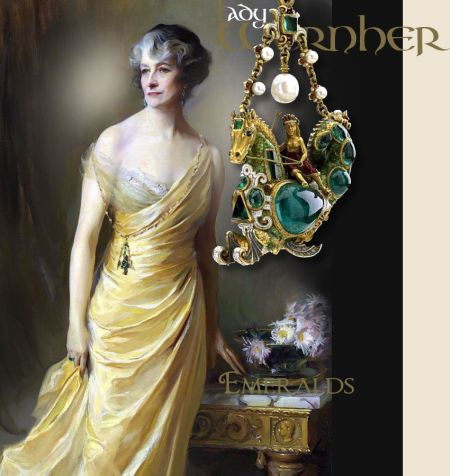 Lady Ludlow Emerald Earrings,Renaissance Emerald Pendant Necklace Collier | Noble Royal Emerald Jewelry | Alice Wernher Mankiewicz |Important Emerald Jewels